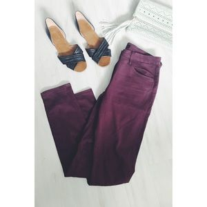3x1 NYC Channel Seam Skinny Pants in Rum Raisin